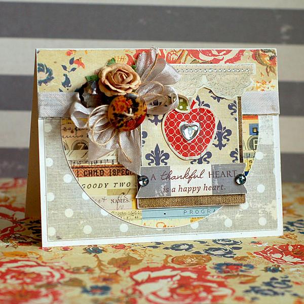 Thankful Heart Card by Lea Lawson