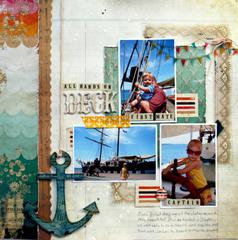 All Hands on Deck by Audrey Yeager featuring Uncharted Waters by Glitz Design