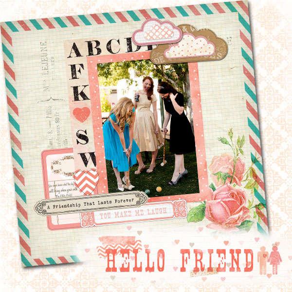 ABC featuring Hello Friend from Glitz Design