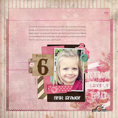 first Grader by Lisa Breuer featuring Pretty in Pink by Glitz Design