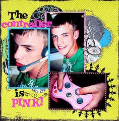 The controller is Pink