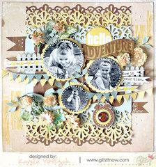 Hello Adventure by Karola Witczak featuring Sunshine in my Soul by Glitz Design