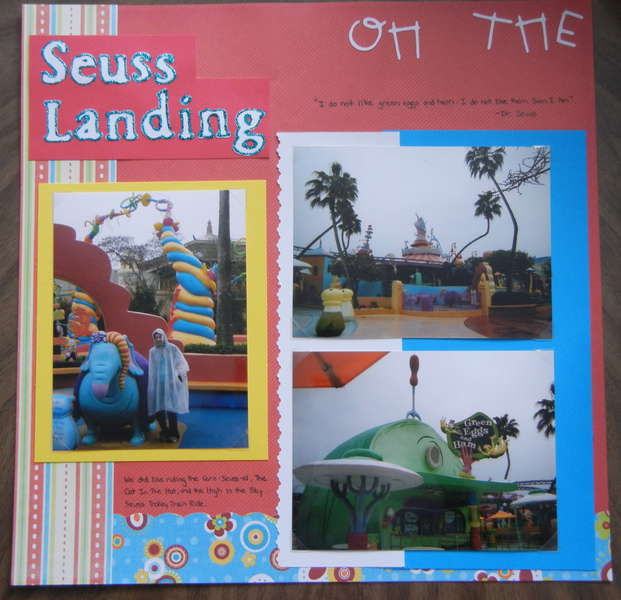 "Seuss Landing ""Oh The Places We'll Go"" - Left Side"