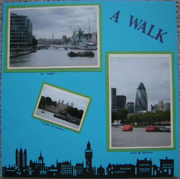 A Walk Along The Thames - Left Side