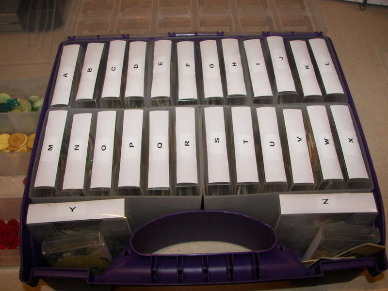 Chipboard Alphabet Storage