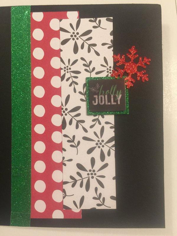 Inside off Christmas chalkboard card