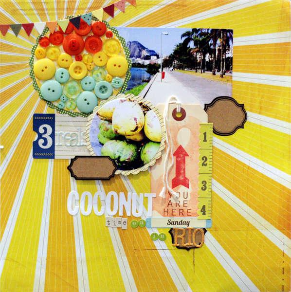 Coconut Time in Rio {Studio Calico October kit}