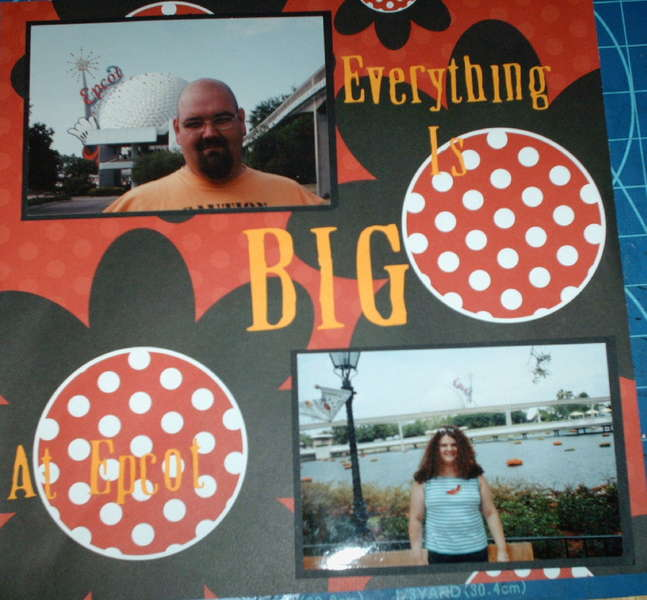 Everything is BIG at Epcot
