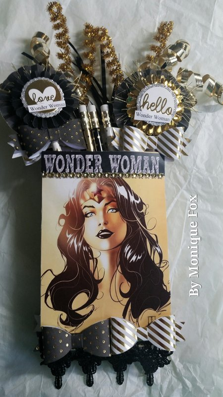 Wonder Woman mini loaded envelope by Monique Fox