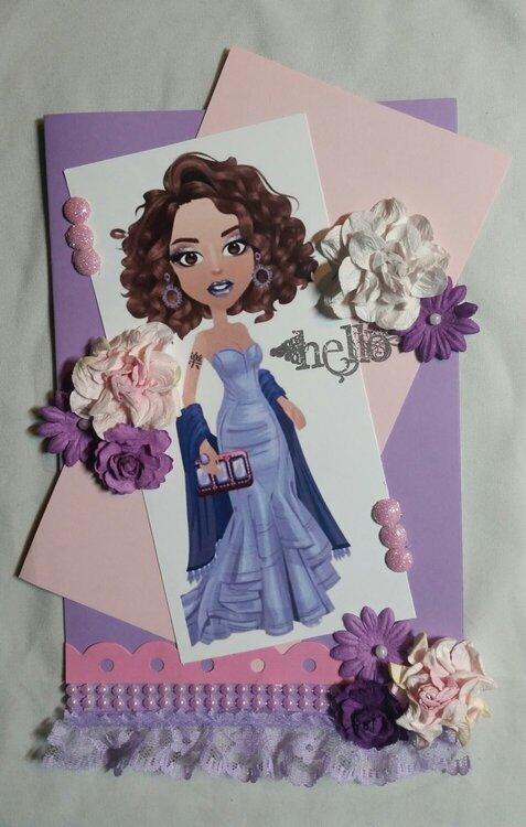 Hello card by Monique Fox