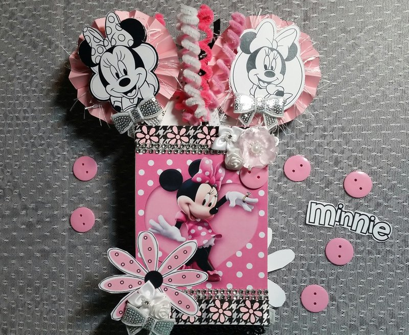 Minnie Mouse loaded envelope by Monique Fox