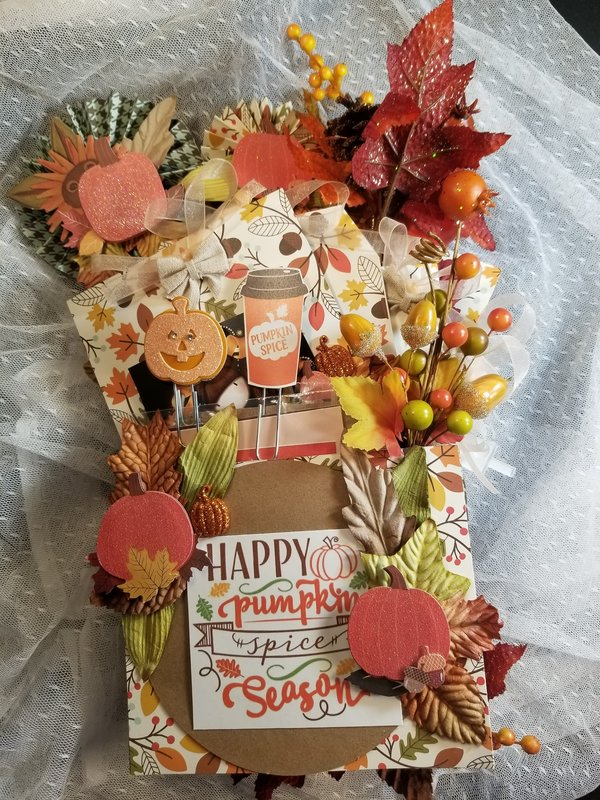 Pumpkin Spice Loaded Envelope (back) by Monique Fox