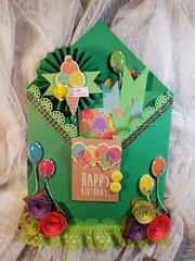 Birthday loaded envelope for Paula Davis by Monique Fox