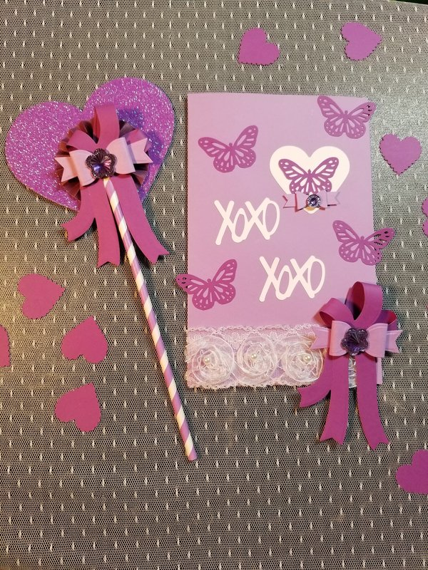 Butterfly card and wand by Monique Fox