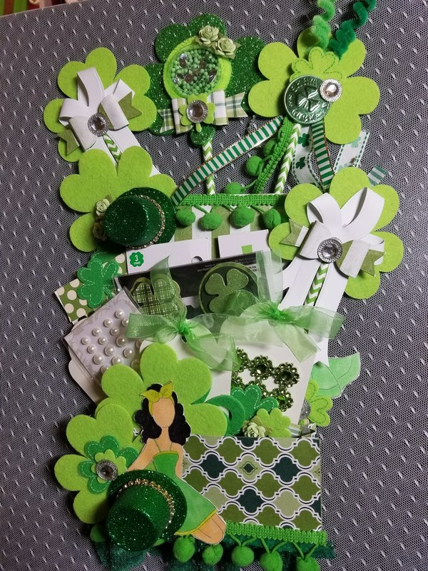 St Patrick's Day loaded envelope by Monique Fox