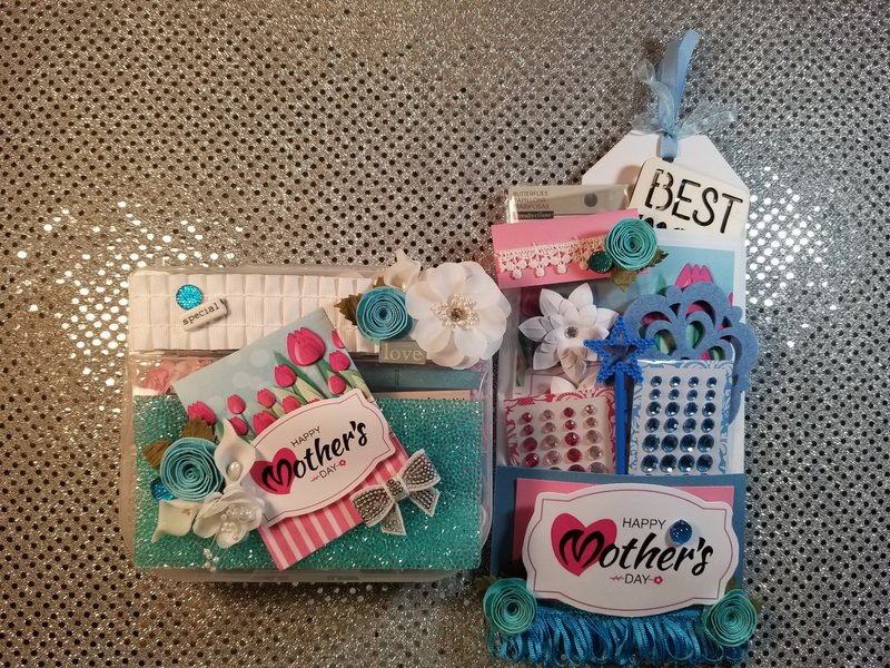 Mother's Day embellishment box and loaded envelope by Monique Fox