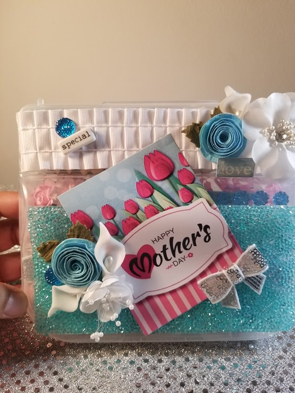 Mother's Day embellishment box by Monique Fox