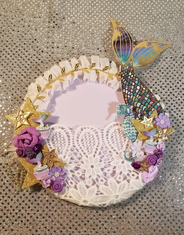 Mermaid embroidery hoop by Monique Fox