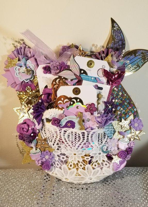 Loaded mermaid embroidery hoop by Monique Fox