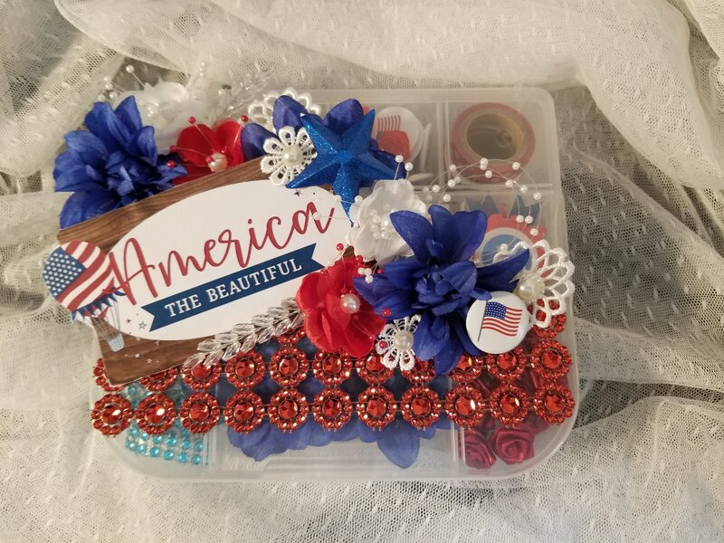 America the beautiful embellishment box by Monique Fox