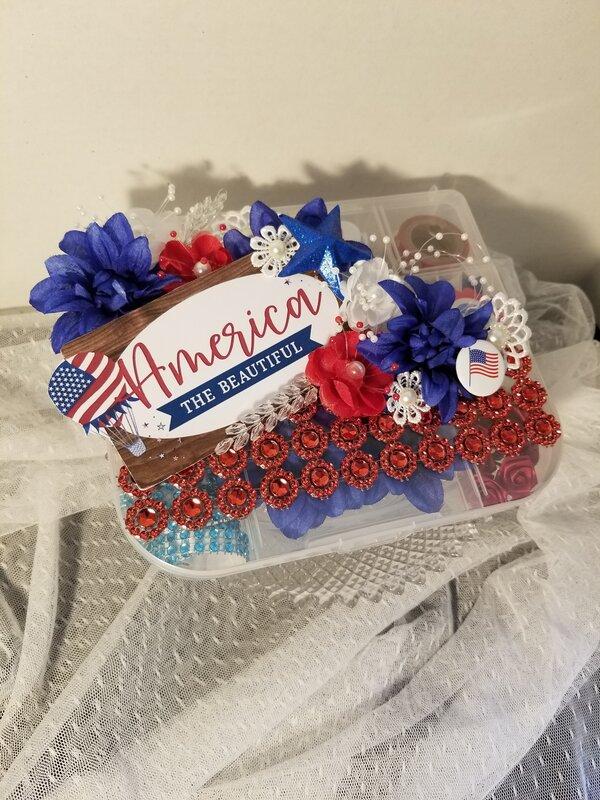 America the beautiful embellishment box by Monique Fox