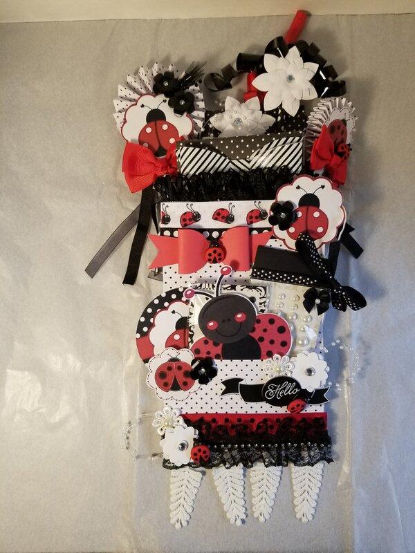Ladybug bag flip by Monique Nicole Fox