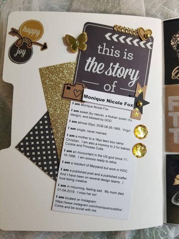 All About Me file folder pocket letter by Monique Nicole Fox