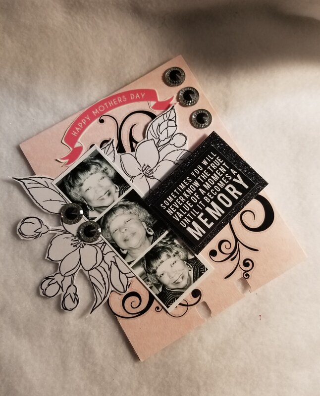 Mother's Day memorydex card by Monique Nicole Fox