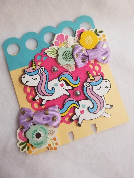 Unicorn memorydex card by Monique Nicole Fox