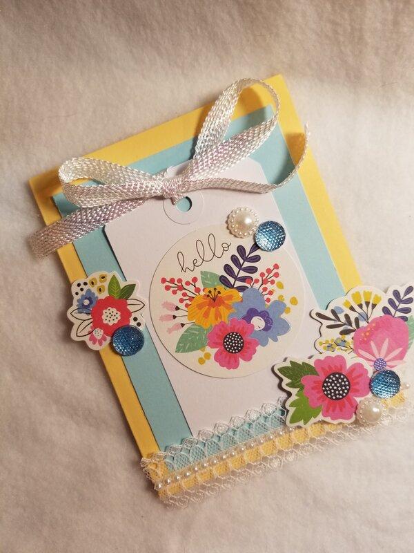 Hello card by Monique Nicole Fox