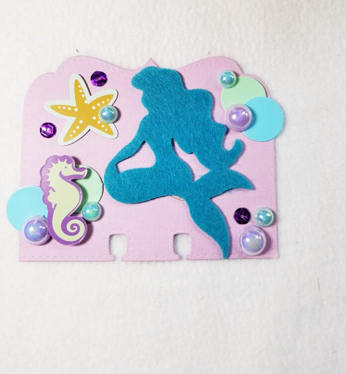 Mermaid memorydex card by Monique Nicole Fox