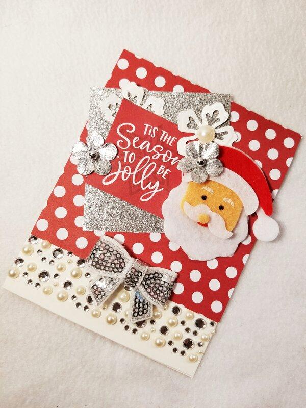Tis the season to be jolly card by Monique Nicole Fox