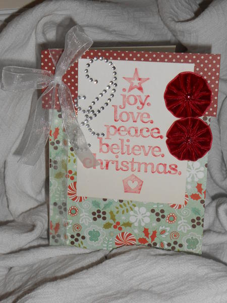 Joy. Love. Peace. Believe. Christmas.  **Birds of a Feather Kit Co.**