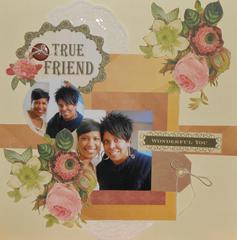 True Friend  ***DCWV Jan Sketch Challenge***