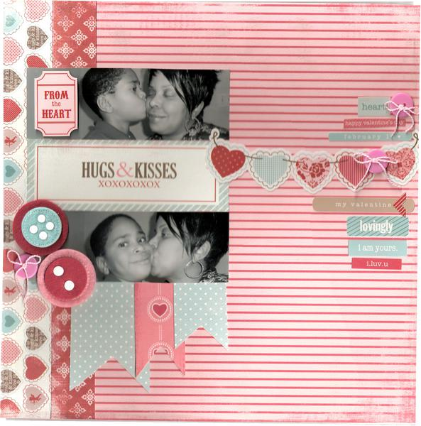 Hugs & Kisses  ***Page Drafts & Paper Stories***