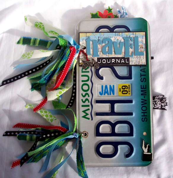 Travel Journal – License Plate Book - front cover