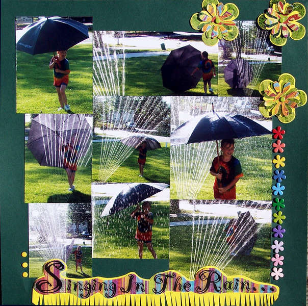 Fun In The Sprinker - Singing In The Rain