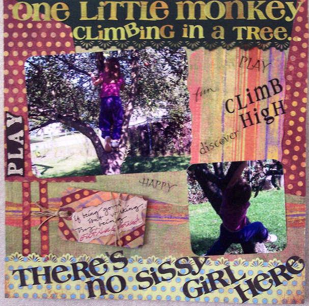 One Little Monkey Climbing in a Tree