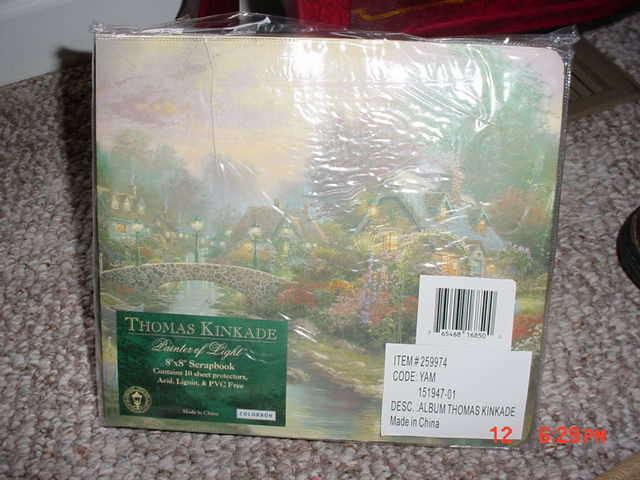 Thomas Kinkade 8x8 Scrapbook Album