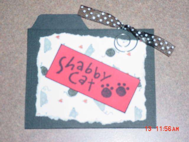 Pet Swap Cat Mini File Folders