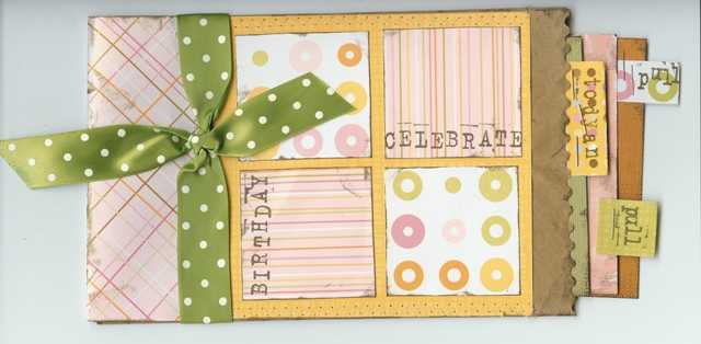 Birthday Paper bag mini book