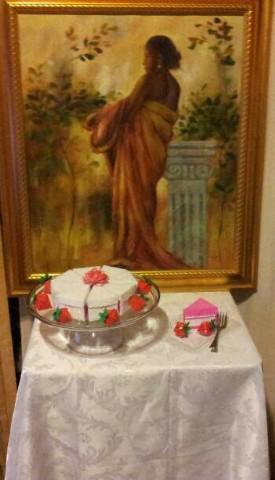 Cake Box Centerpieces