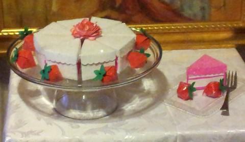 Cake Box Centerpiece - close up