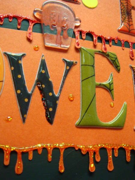 Close up of Halloween sign