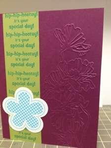 Flower Garden Embossing Folder