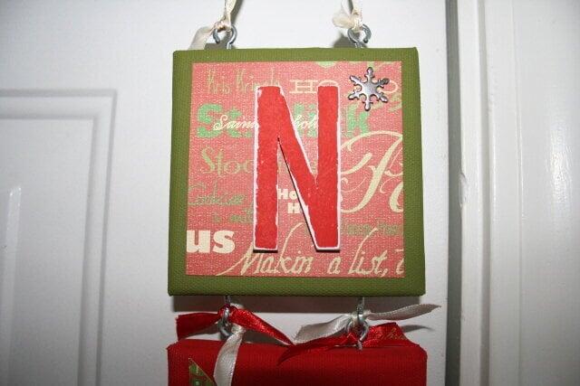 """Noel Wall Hanging """"N"""""""