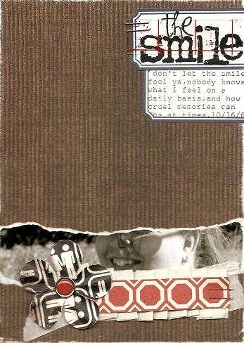 the smile (art journal)