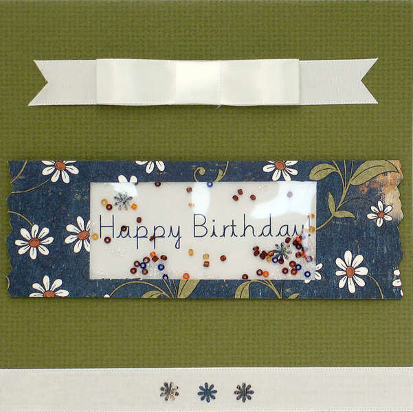 Happy Birthday 6X6 Card with Shaker Box