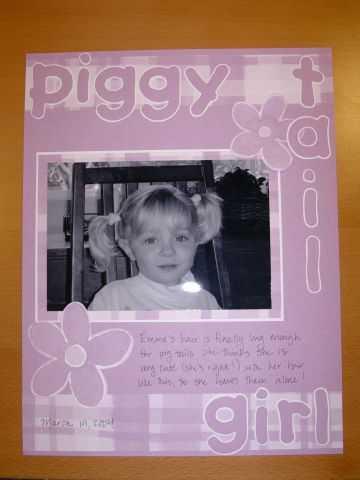 piggy tail girl--scrapvivor week 3