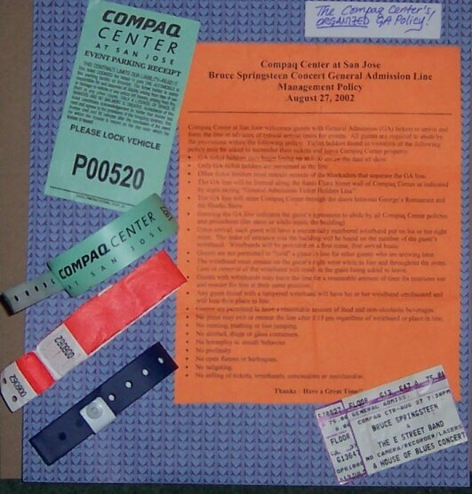 The Compaq Center's Organized GA Policy, Aug. 2002